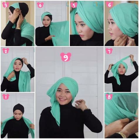 tutorial jilbab segi empat simple tutorial hijab turban segi empat square hijab tutorial