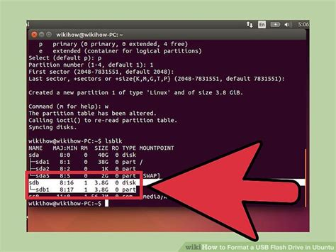 format fat32 in ubuntu how to format a usb flash drive in ubuntu with pictures
