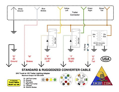 7 pin trailer connector wiring diagram for tractor trailer