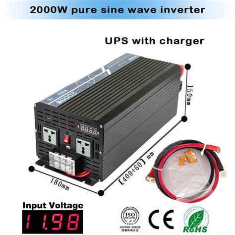 Inverter 2000 Watt N 12 2000kbm Suport Charger Aki sine wave power inverter dc 12v 24v 48v ac 220v 2000w inverter charger with auto transfer