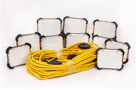 construction string lighting construction electrical products 100ft led temporary light