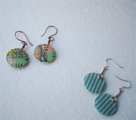 How To Make Easy Paper Earrings At Home - make washi jewelry and charms
