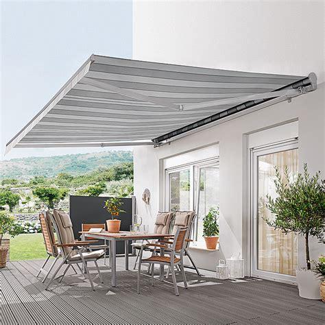 markise 4m ausfall sunfun designh 252 lsenmarkise grau wei 223 breite 4 m