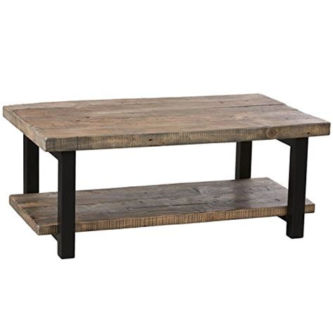 Alaterre Pomona 42 Quot Wide Rustic Coffee Table Driftwood Wide Coffee Tables
