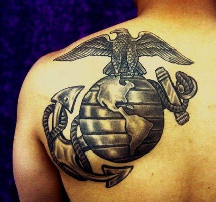 eagle globe and anchor tattoo da weis marine corps eagle globe and anchor emblem