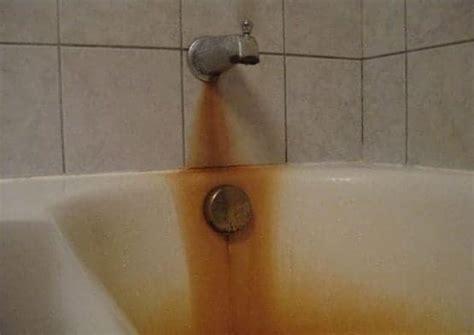 rust stains   fiberglass bathtub