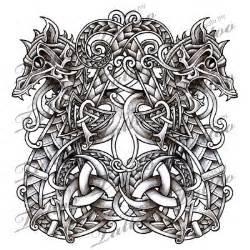 norse dragons serpents tattoo design snake tattoo