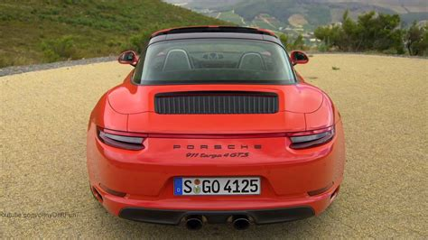 2017 Porsche 911 Targa 4 Gts Lava Orange Awesome Exhaust