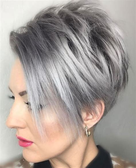 color for grey pixie hair cut gray hair colors for hair