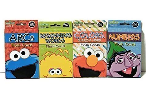 sesame educational flashcards colors shapes more with abby cadabby books sesame goodies sesame educational flash