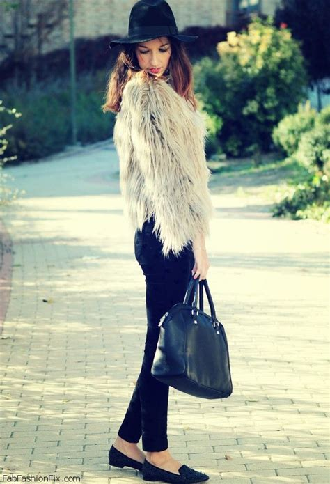 11415 Fur Combined Dress White style how fashion wear the fur and faux