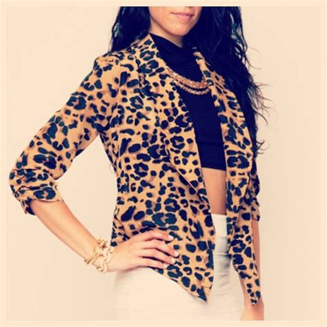 jacket leopard print tiger animal print fashion