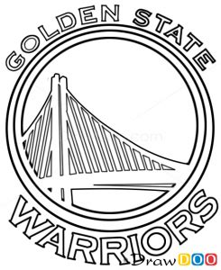How To Draw Golden State Warriors Basketball Logos Golden State Logo Coloring Pages