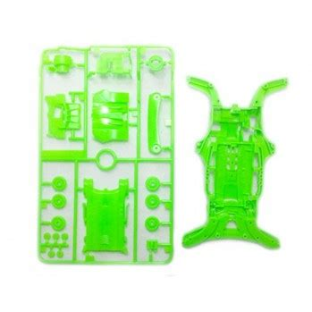 Tamiya 95052 Ma Fluorescent Color Chassis Set Green mini 4wd chassis archives wah wah model shop