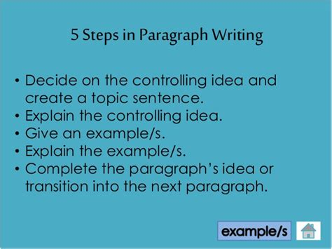 Steps To Writing A 5 Paragraph Essay by Steps In Writing A Paragraph