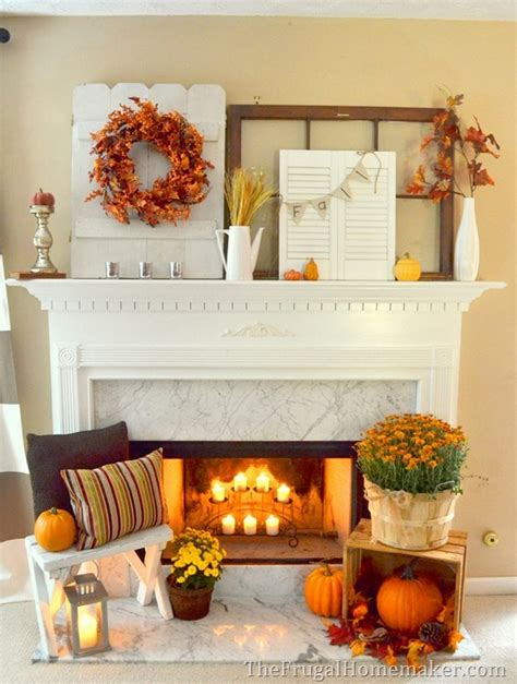 Fall Decor Inspiration For Your 31 Days Of Fall Inspiration Fall Mantel