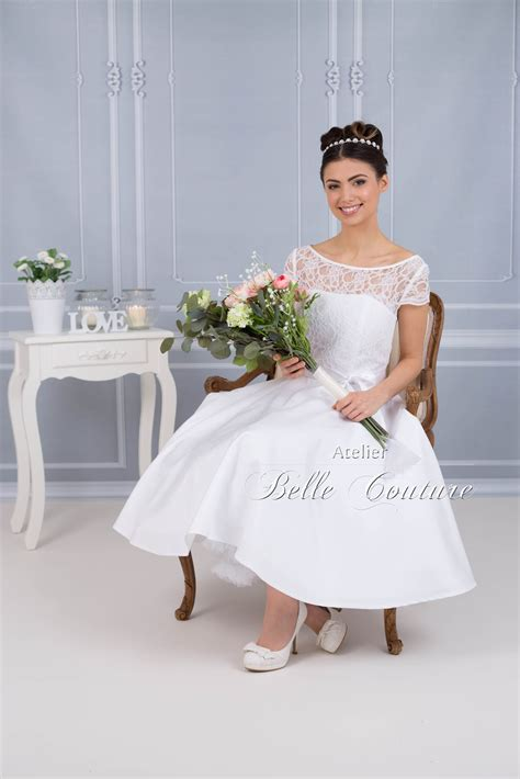 Brautkleider 50iger Jahre Stil by Atelier Couture Brautkleid Mit Spitze Im 50er