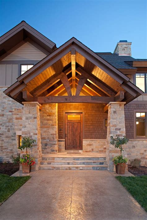 Mountain Cabin Decor Front Porch Entrance Designs Entry Rustic With K2 Stone