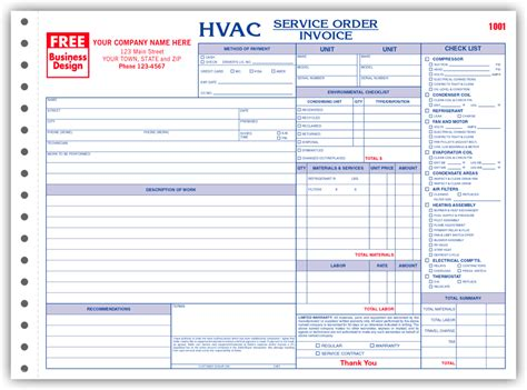 hvac quote template 6534 3 hvac service order invoice