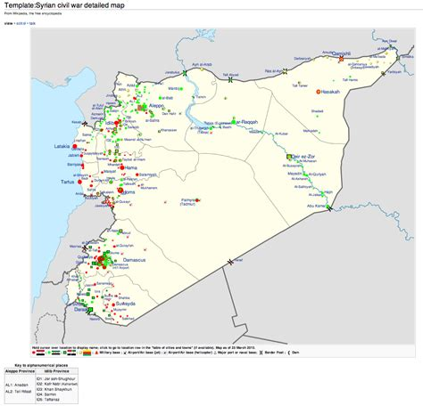 syrian civil war detailed map large size the red team