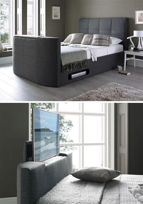 Bed Frame With Tv Inside 8 Ways To Include A Tv In The Bedroom Contemporist