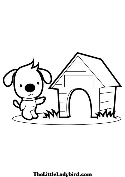 animal house coloring page free dogs coloring pages thelittleladybird com