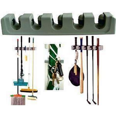Magic Hanging Mop Holder Sapu Alat Pel Hanger Bola Raket Kayu Besi Kop jual gantungan sapu pel 5 slot magic mop hanger holder