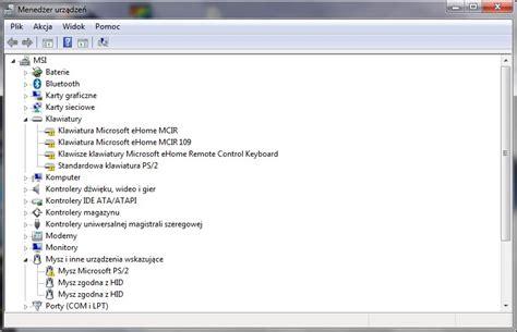 msi ex625 po uruchomieniu win7 nie działa klaw i touchpad
