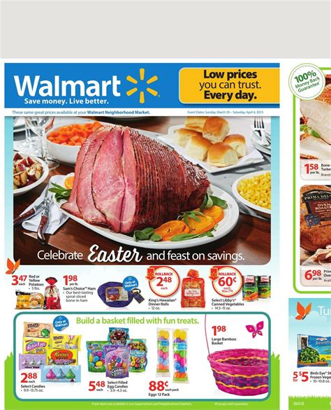 walmart food april savings walmart ad food products and easter