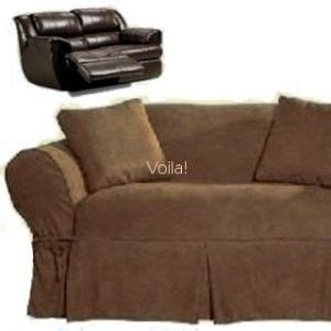 Covers For Reclining Sofa by Sure Fit Reclining Sofa Loveseat Slipcover Suede