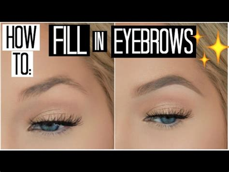 how to color in your eyebrows how to fill in your eyebrows for beginners how to shape