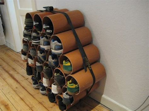 pvc pipe shoe storage diy diy tidy ideas your home is lovely