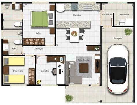 Pod Garage by Planos De Casas De Un Piso 2 Dormitorios Y Garaje
