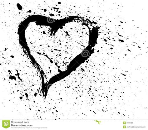 spray pattern en francais brushed heart with spatter royalty free stock photography