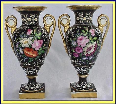 Vintage Vases For Sale by Antique Sevres Pr Black Hp Vase For Sale