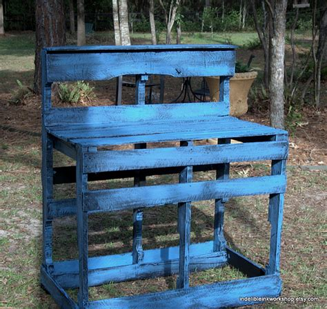 upcycled pallet bench potting bench upcycled pallets flickr photo sharing