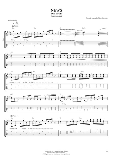 sultan of swing bass tab news by dire straits score guitar pro tab