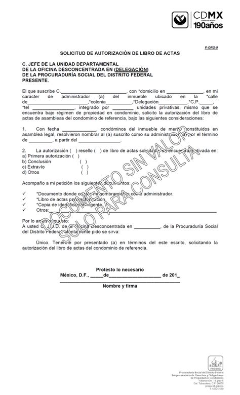 carta de autorizacion municipal solicitud de autorizaci 243 n de libro de actas