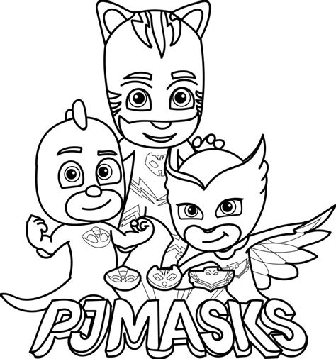 pj masks characters coloring pages pj masks coloring pages best coloring pages for kids