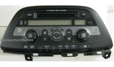 honda odyssey 2008 cd6 xm dvd radio a310 1xu4 new