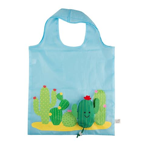 Foldable Bag Shopping colorful cactus foldable shopping bag