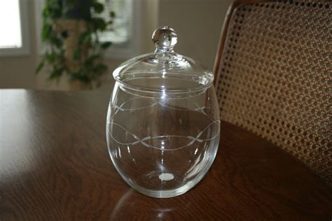 princess house crystal vintage princess house crystal covered jar by novembermountain