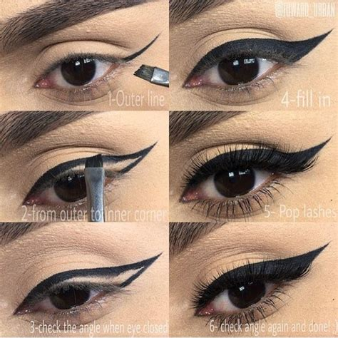 eyeliner tutorial gel liner how to apply black double winged eyeliner beauty and