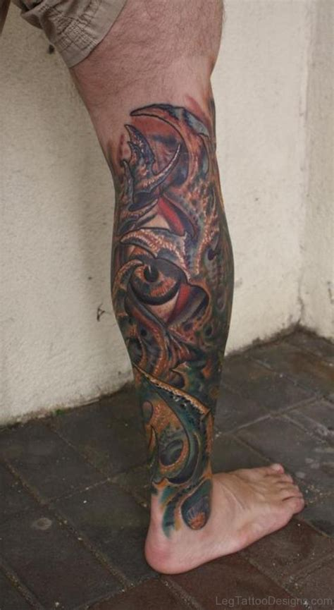 biomechanical tattoo on legs 50 wonderful biomechanical tattoos on leg