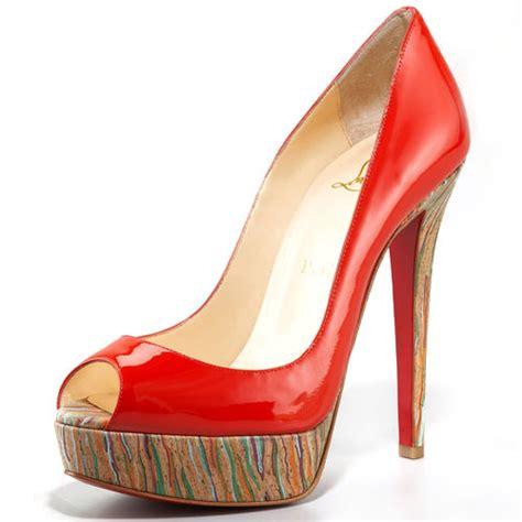 High Heells 14cm 2018 christian louboutin bottom banana 14cm high heels peep toe pumps outlet store cheap