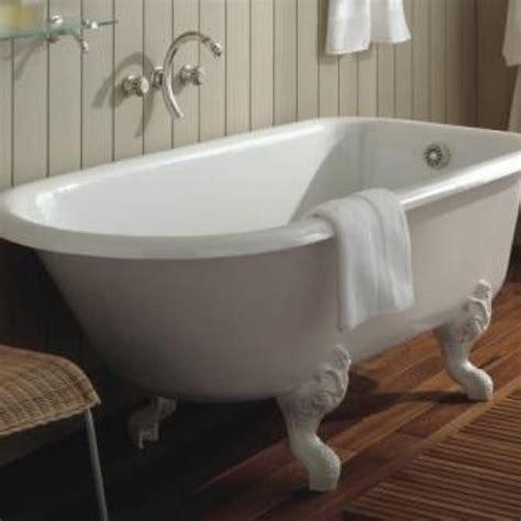 baignoire sur pied r 233 tro fonte blanche 154 x 78 cm