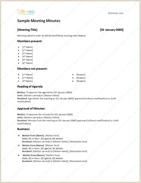 meeting agenda template with meeting minutes office templates