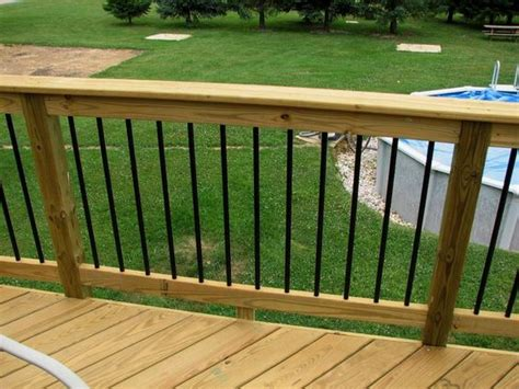 Aluminum Balusters For Deck Railings Deckorators Railing And Accessories Black Aluminum