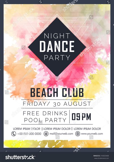 Creative Dance Party Celebration Flyer Banner Stock Vector 316025408 Shutterstock Celebration Flyer Template