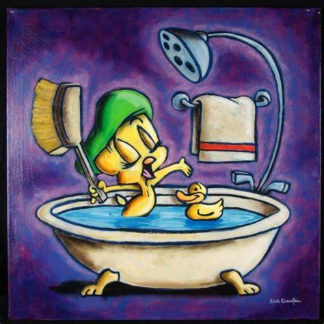 duerrstein original painting tweety bird in tub lot